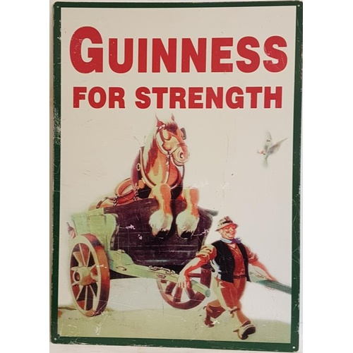 31 - <em>'Guinness for Strength'</em> Advertising Sign - 19.5 x 27.5ins...