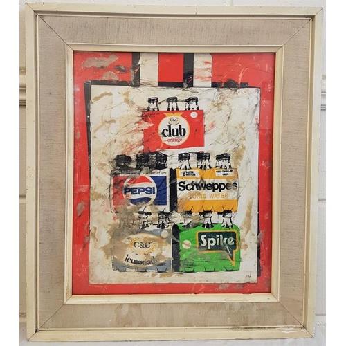 34 - Vintage 'C & C' Club minerals Art Pop advertising, c.20 x 23in...