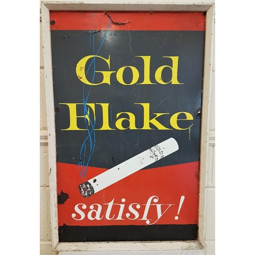 42 - 'Gold Flake. Old framed advertising sign, c.23.5 x 36in...