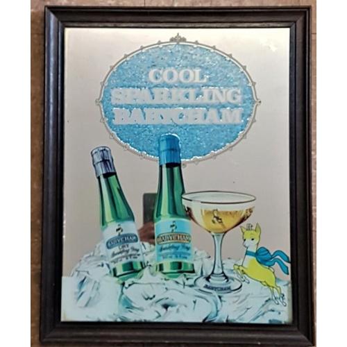 46 - Cool Sparkling Babycham Pub Mirror, c.16 x 20in...