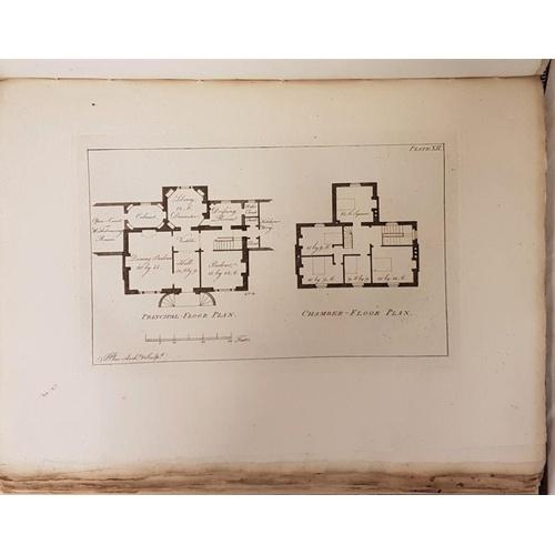 7 - John Plaw. <em>Rural Architecture</em>. 1796. 1st edit. Folio. 62 fine aqua-tinted plates. Irish boo...