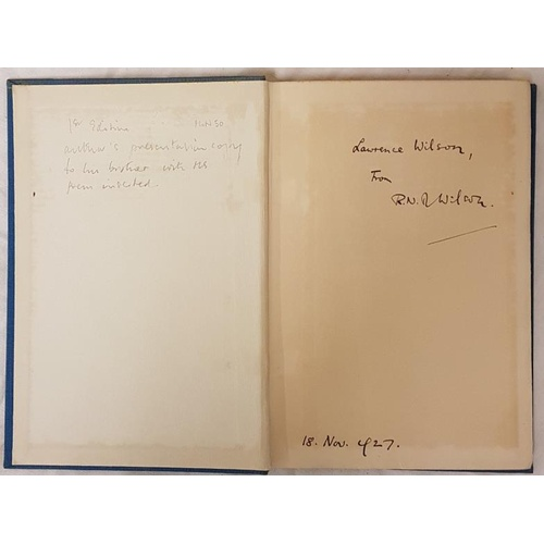 24 - R.N.D. Wilson. <em>The Holy Wells of Orris</em>. 1927. First. Signed presentation copy & manuscr...