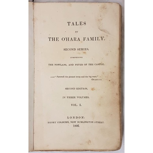 28 - Banim John <em>Tales of The O Hara</em> second series in three volumes London 1826...