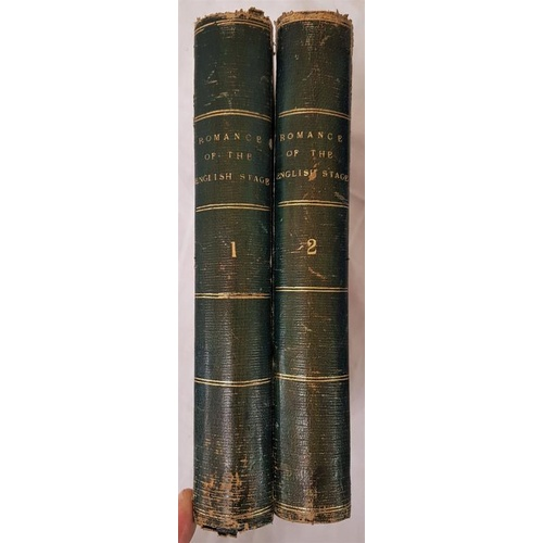 37 - Percy Fitzgerald.  <em>The Romance of The English Stage.</em> 1874, 1st. Edit. 2 volumes. Fine half ...