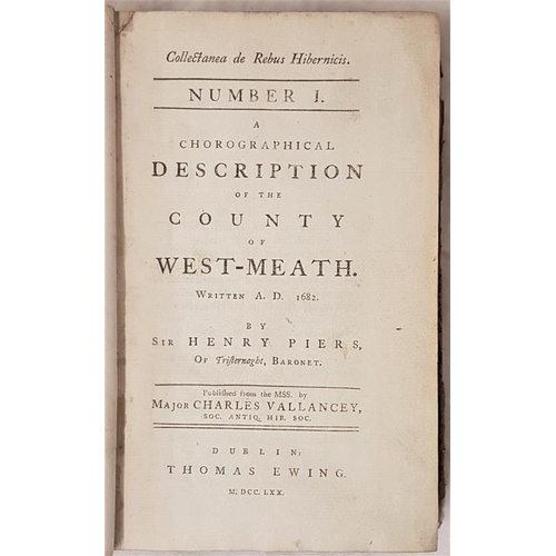 38 - <em>Chorological Description of County of West-Meath</em> written 1682 by Sir Henry Piers & Diss...