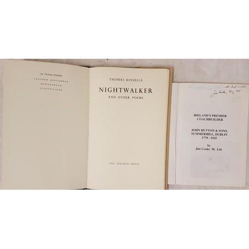 35 - Thomas Kinsella <em>Nightwalker and Other Poems</em>1968. Dolmen Press. First. edit;&nbs...