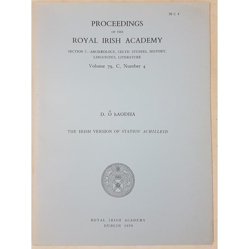4 - Large Collection of <em>Proceedings Of The Royal Irish Academy</em> c.85...