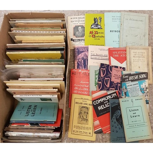 6 - Box of vintage Irish Pamphlets. Biography, social, political, Irish language etc etc. approximately ...