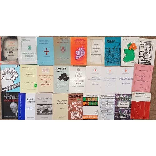 17 - <em>Northern Ireland Troubles: </em>  26 pamphlets from various political groups, individu...