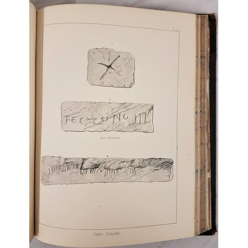 25 - Petrie, George <em>Christian Inscriptions in the Irish Language.</em> Dublin, 1872 & 1878 2 vols...
