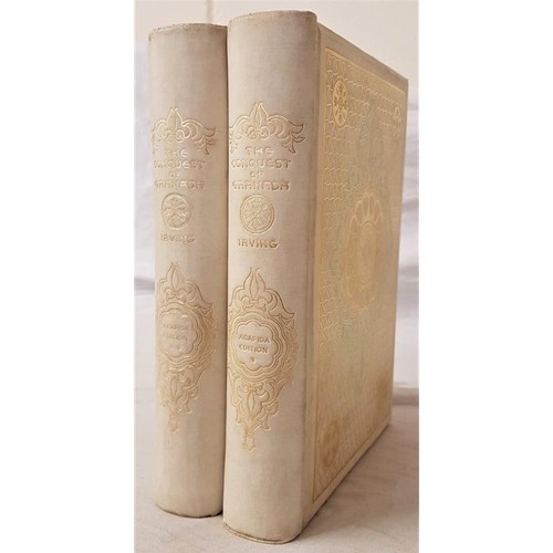 31 - Washington Irving. <em>Chronicles of the Conquest of Granada.</em> 1892. 2 vols. Illustrated. Beauti...