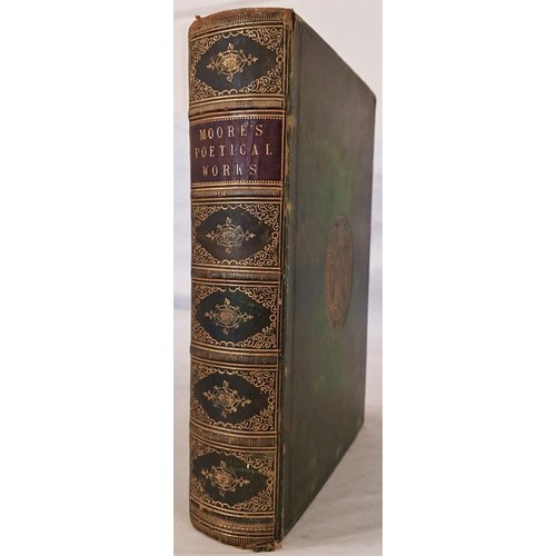 46 - Thomas Moore,<em> Poetical Works,</em> Longmans 1857; LV, 691 pages Royal 8vo. Presentation/ prize/p...