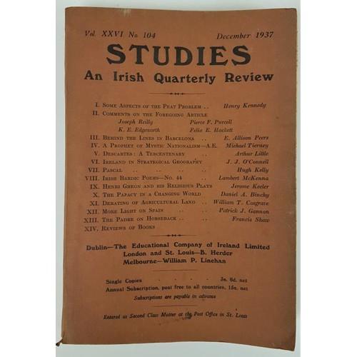 7 - <em>Fourteen Studies on Irish Quarterly Review</em>: No's. 104, 108, 111, 112, 114, 116, 118, 120, 1...
