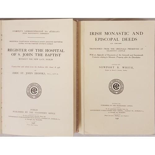 530 - Eric St John Brooks <em>The Hospital of St John The Baptist,</em> Dublin 1936; and...