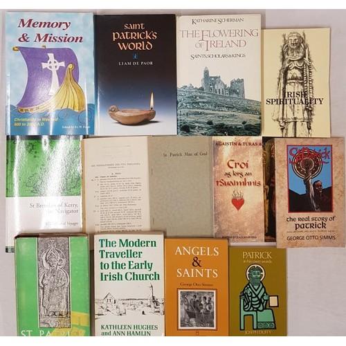 533 - <em>Saint Aptrick's World</em> by Liam De Paor,<em> St. Patrick</em> by Mac Neill and 10 other simil...