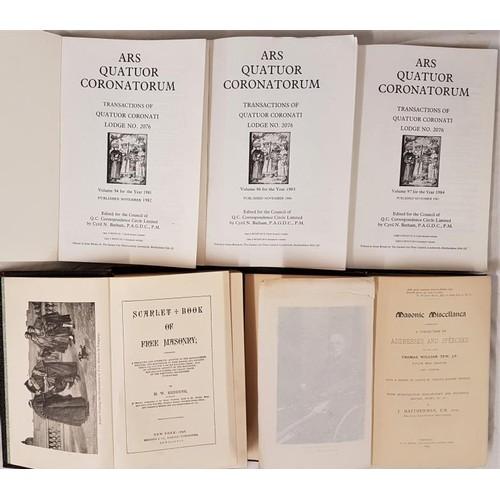 538 - Freemasonry: Redding, M. W. <em>Scarlet Book of Freemasonry</em>, containing a thrilling...