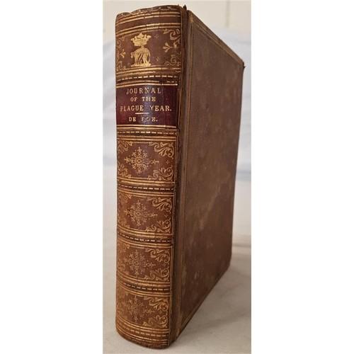 557 - Daniel Defoe<em> A Journal of The Plague Year – London in 1665</em>. 1882. Calf. Gilt sp...