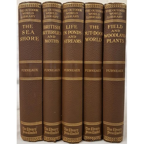 560 - Natural History:   W. Furneaux 5 uniform titles - <em>The Outdoor World; The Sea Shore; Br...