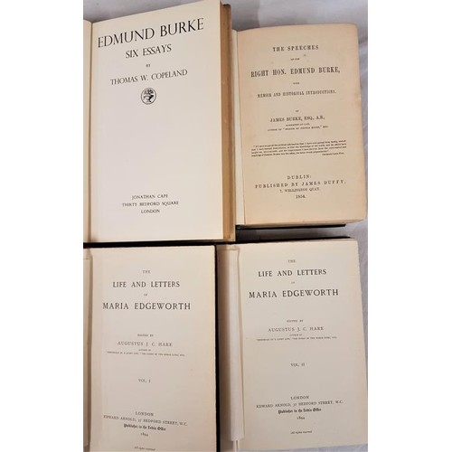 563 - Augustus Hare,<em> Life and letters of Maria Edgeworth,</em> Arnold London, 1894, 2 vols with 32 pps...