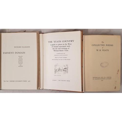 567 - Richard Ellmann <em>Yeats Among Wilde, Joyce, Pound, Eliot and Auden</em>. 1967;<em> The Colle...