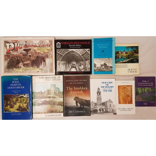 569 - <em>The Inishkea Journals, Francoise Henry in Co. Mayo</em> and 9 other books and pamphlets etc....