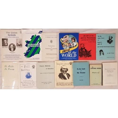 570 - Presbyterian History: 14 books, booklets & pamphlets on <em>Irish Presbyterian Histo...
