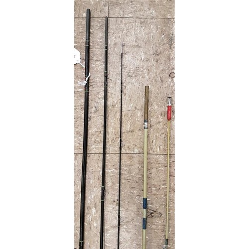 6 - <em>Walker</em> 3-piece Graphite Fishing Rod c.8ft and a 2-piece graphite fishing rod, c.7ft (2)...