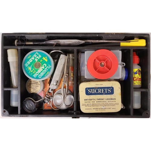 17 - Presentation Box with assorted fishing materials and tools...