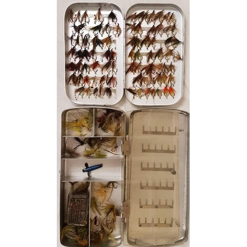 19 - Two Fly Boxes (Salmon, Trout Flies)...