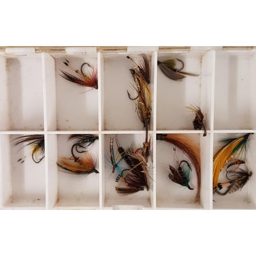 21 - Three Boxes of Various Fishing Flies and Two Packs of Fishing Flies...