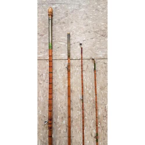 33 - Vintage <em>Boag (Edinburgh)</em> 4-Piece Split Cane Fishing Rod, c.12ft6in...