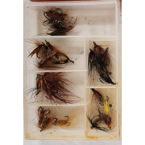 46 - One Malloch's Tin of Various Fishing Flies and Two Other Boxes of Fishing Flies...