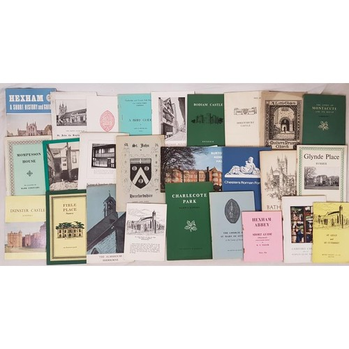 1 - <em>English Historic Buildings:</em> Collection of over 170 booklets, guides, etc. for English paris...