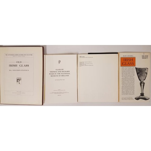 14 - Irish Glass: <em>Old Irish Glass,</em> Stannus, nd, large 4to, 15 pps of text . 60 plates; pictorial...