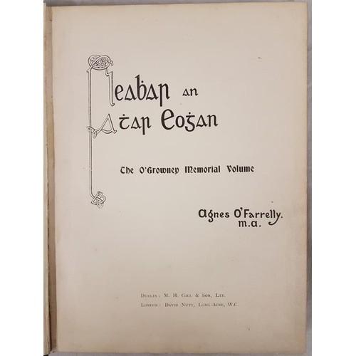16 - O Farrelly, <em>Leabhar an Athar Eoghan</em>, O'Growney Memorial Vol c1904. Large 4to, blue cl...