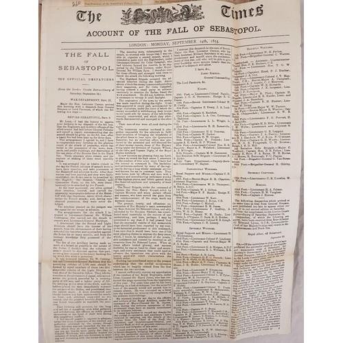 37 - Scrap book: <em>Ireland 1902- 1905, Crimean War</em> 1855, &c.] quarto, 27 card leaves with news...