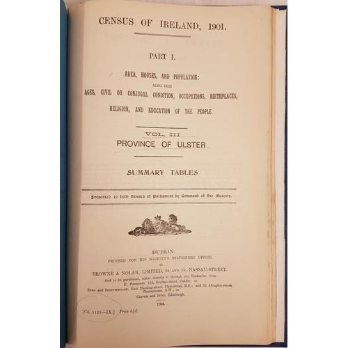 45 - <em>Census of Ireland 1901</em>. Provinces of Leinster, Munster, Ulster & Connacht. All bound in...