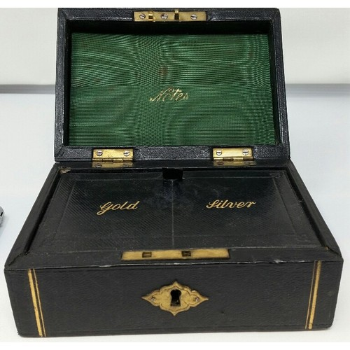 1 - Late 19thCentury Jewellery Box with gilded decoration gold & silver...