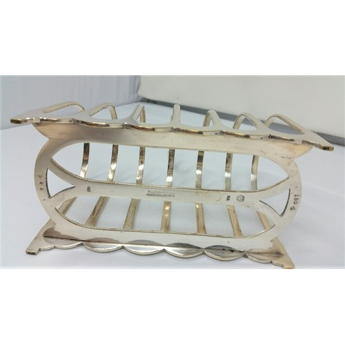8 - Late 19thCentury/early 20thCentury heavy quality silver plated toast rack in superb cond...