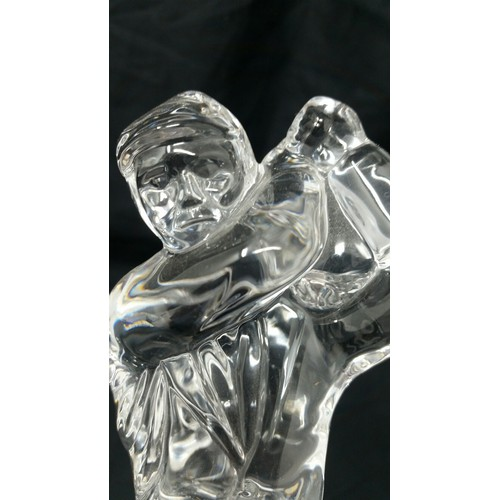28 - Waterford CrystalGolfer 7inches tall no chips or nibbles...