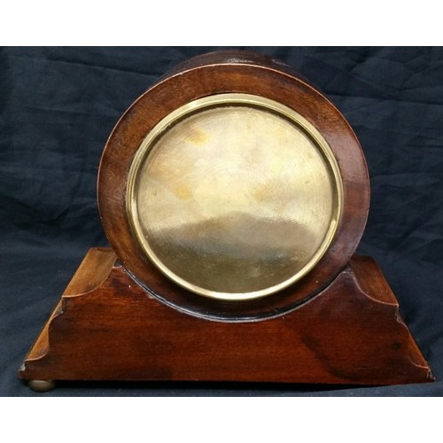50 - Late 19th/early 20thcentury Buren Swiss made mantle clock with inlaid mahogany case of s...