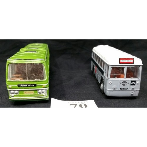 70 - Two vintage buses . Condition associated with being played with...