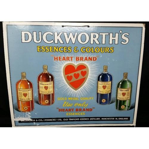 90 - VintageDuckworth'ssingle sidedadvertising 14x17.5 inches...