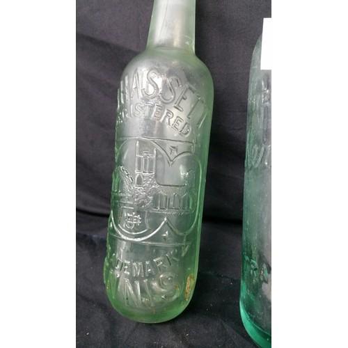 97 - Two 19thCentury / early 20thCentury soda bottles [ nodamage] C.J.Hasse...