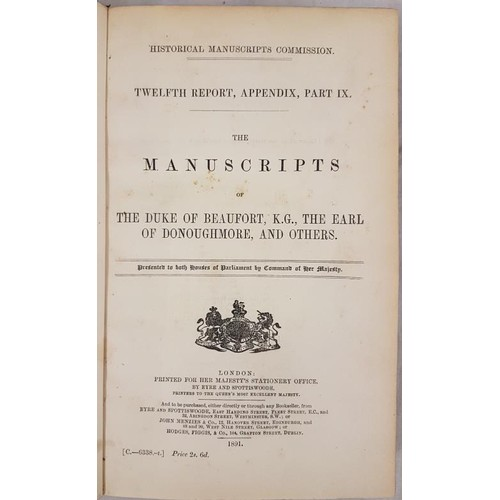3 - Donoughmore Papers:  <em>Manuscripts of the Duke of Beaufort, the Earl of Donoughmore, and othe...