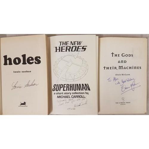 10 - Signed by Louis Sacher <em>Holes</em> paperback Bloomsbury London 2000. Signed limited edition of 10...