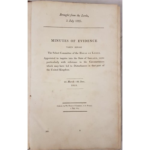 14 - <em>Minutes of Evidence to enquire into the State of Ireland</em>, which led to the disturbances in ...