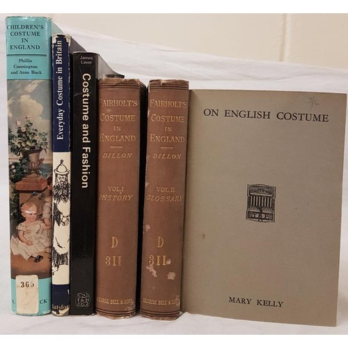 15 - Costume: <em>Fairholts Costume in England</em>, L. 1885, 2 vols; <em>Costume and Fashion; On English...