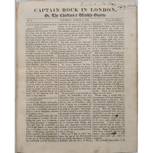 29 - <em>Captain Rock In London</em> or<em> The Chieftain's Weekly Gazette</em> 1825 No. 1 to No. 31 (1)...
