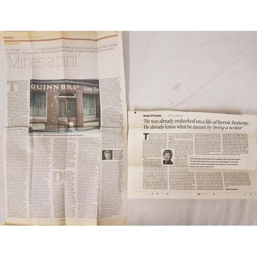 30 - John McGahern. <em>Memoir</em>. 2005. 1st edit. News clippings, R. F. Brooke. <em>The Brimming River...